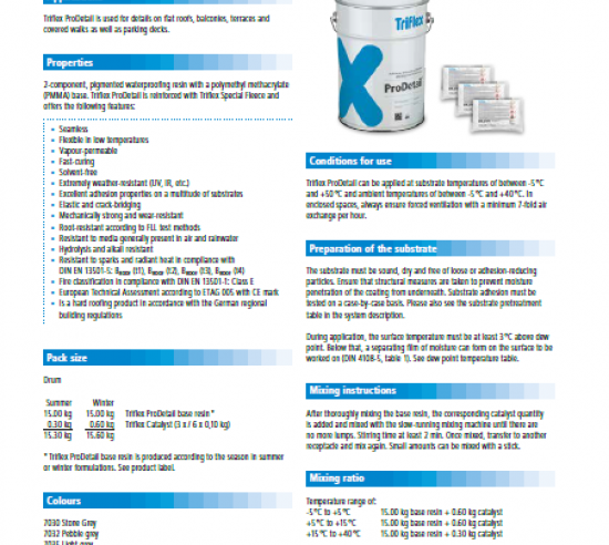 Triflex ProDetail product information