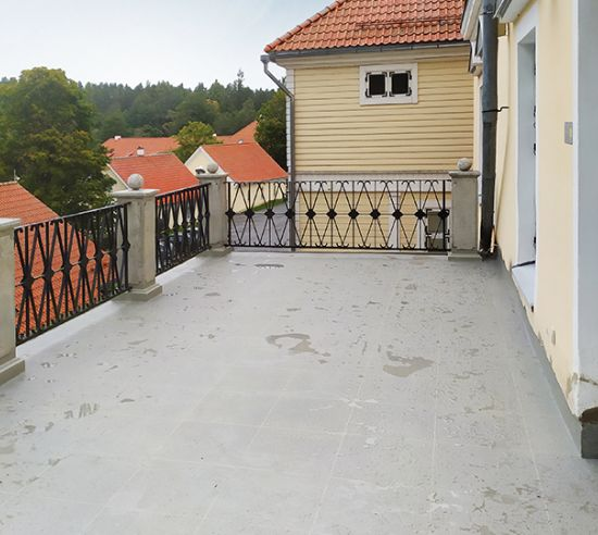 Balcony Waterproofing with Triflex Colour Mix, Vihula (EST)